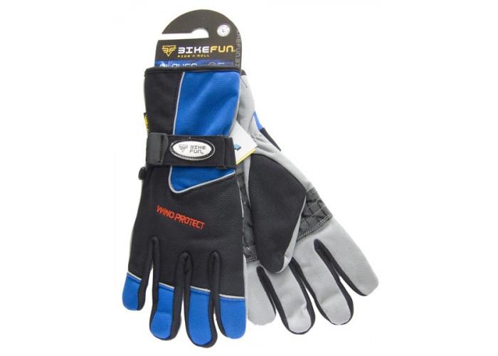 Kesztyű BIKEFUN téli XS kék - 1 pár