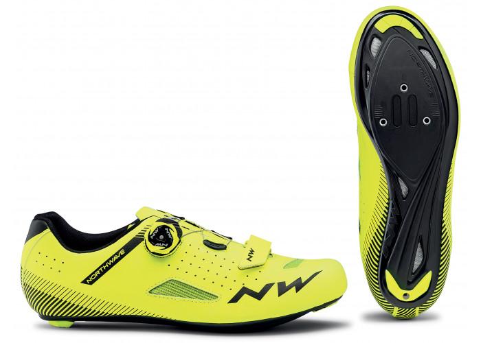 Cipő NW ROAD CORE PLUS 40 - sárga fluo - 1 pár