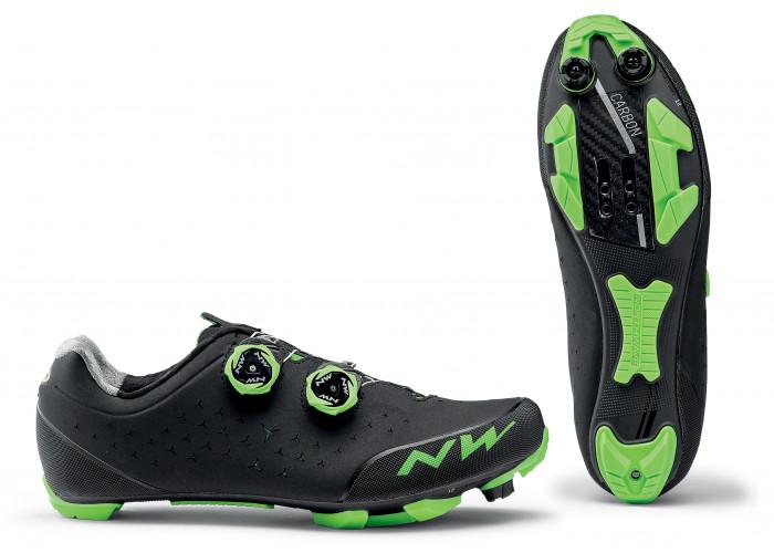 Cipő NW MTB REBEL 2 42 - fekete/zöld - 1 pár